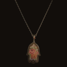 Michal Negrin Victorian Hamsa Necklace