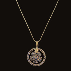 Michal Negrin Flower Dream Catcher Black Necklace