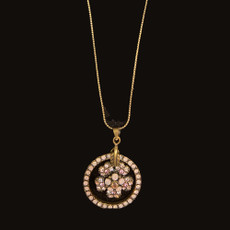 Michal Negrin Flower Dream Catcher Soft Pink Necklace