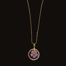 Michal Negrin Flower Dream Catcher Purple Necklace
