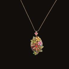 Michal Negrin Girls have Fun Swarovski Crystals Locket Necklace