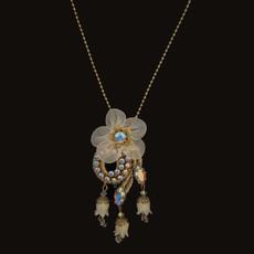 Michal negrin Silk Flower Bells Necklace