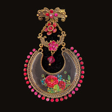 Michal Negrin Swarovski Crystals For The Lady Pin