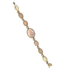 Michal Negrin Swarovski Crystals Rose Flower Bracelets