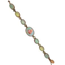 Michal Negrin Swarovski Crystals Rose Flower Turquoise Bracelets