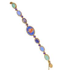 Michal Negrin Swarovski Crystals Rose Flower Royal Bracelets