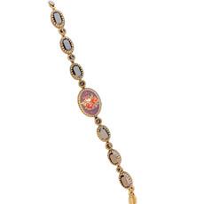 Michal Negrin Swarovski Crystals Rose Flower Jet Bracelets