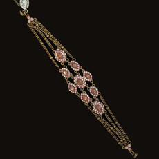 Michal Negrin Added Sparkle Crystal Pink Bracelet