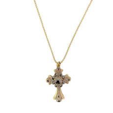 Michal Negrin Swarovski Crystals Faith Black Cross