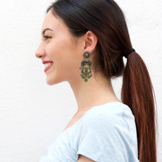 Ayala Bar Green Moonlight Dreams Earrings