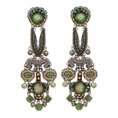 Ayala Bar Green Moonlight Freedom Earrings