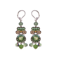 Ayala Bar Green Moonlight French Wire Earrings
