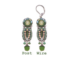 Ayala Bar Green Moonlight Blinding Lights Earrings