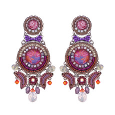 Ayala Bar Deep Fuchsia Just Dance Earrings