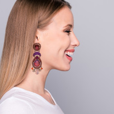 Ayala Bar Deep Fuchsia Young and Beautiful Earrings