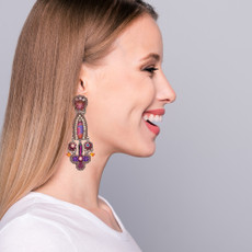 Ayala Bar Deep Fuchsia Be Alright Earrings