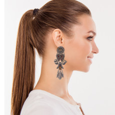 Ayala Bar Metal Light Elastic Heart Earrings