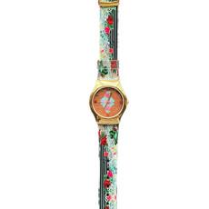 Michal Negrin Vintage Style Swarovski Crystal My Flower Hand Watch