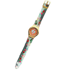 Michal Negrin Vintage Style Swarovski Crystal My Flower Hand Watch
