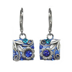 Michal Golan Cerulean Be there or be Square Earrings