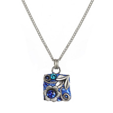 Michal Golan Cerulean Be there or be Square Necklace