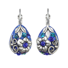 Michal Golan Cerulean Teardrop Lever Earrings