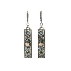 Michal Golan Blue Frost Flower Child Earrings