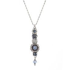 Michal Golan Blue Frost Flower Child Necklace