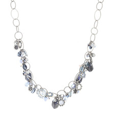 Michal Golan Blue Frost Lucky Charm Necklace