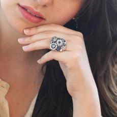Michal Golan Blue Frost Sweet Tea Adjustable Ring