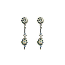 Michal Golan Blue Frost Dagger Earrings