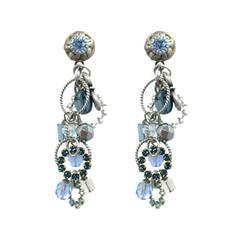 Michal Golan Blue Frost Dangle Earrings