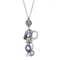 Michal Golan Blue Frost Dangle Necklace