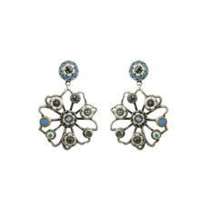 Michal Golan Blue Frost Flower Earrings