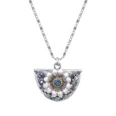 Michal Golan Blue Frost Half Moon Necklace