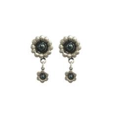Michal Golan Blue Frost Hematite Earrings