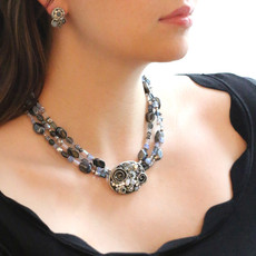 Michal Golan Blue Frost Multi-Strand Necklace