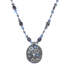 Michal Golan Blue Frost Always Late Necklace