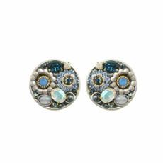 Michal Golan Blue Frost Oversized Stud Earrings