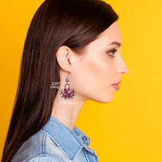 Ayala Bar Ongoing Deep Purple Earrings