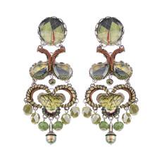 Ayala Bar Midnight Green Meadow Earrings