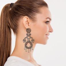 Ayala Bar Samanta Metal Roots Earrings