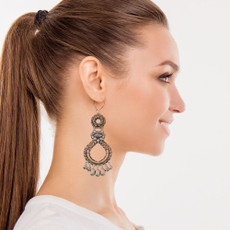 Ayala Bar Lovely Mosaic Metal Roots Earrings