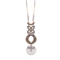 Ayala Bar Mosaic Metal Roots Necklace