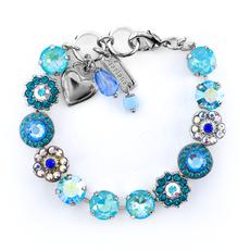 Mariana Lovable Rosette Bracelet in Tranquil Rhodium
