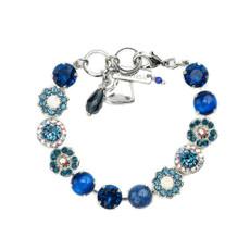 Mariana Lovable Rosette Bracelet in Mood Indigo Rhodium