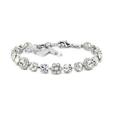 Mariana Must Have Flower Bracelet in Clear Rhodium
