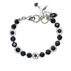 Mariana Must Have Flower Bracelet in Checkmate Rhodium