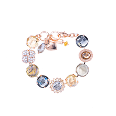 Mariana Extra Luxurious Cluster Bracelet in Earl Grey
