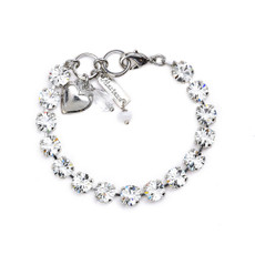 Mariana Must Have Everyday Bracelet in Clear Rhodium